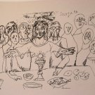 Last Supper by Souza- Signed limited edition Lithograph Indian Contemporary art