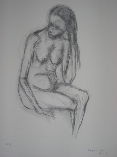 Nude by Padamsee- Signed limited edition Lithograph Indian Contemporary art