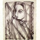 Untitled by Sanat Kar- signed limited edition Etching