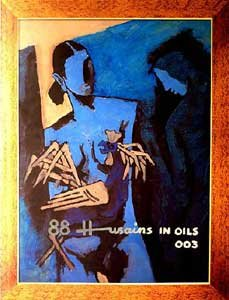 88 Husain in oils Signed edition