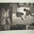Pickup Girls by Anupam Sood- Etching