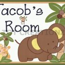 SWEET JUNGLE Babies Personalized 8X10 Nursery Decor Art Print UNFRAMED UNMATTED