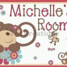 MELANIE the MONKEY Personalized 8X10 Nursery Decor Art Print UNFRAMED UNMATTED