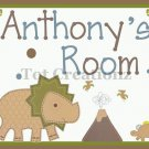 ADORABLE DINOS Personalized 8X10 Nursery Decor Art Print UNFRAMED UNMATTED
