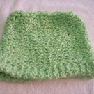 Hand-knitted ladies hat, green