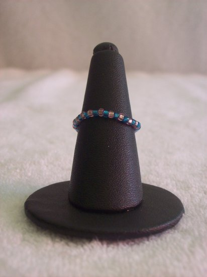 Simple ring, pink and blue