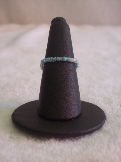 Simple ring, clear and light blue