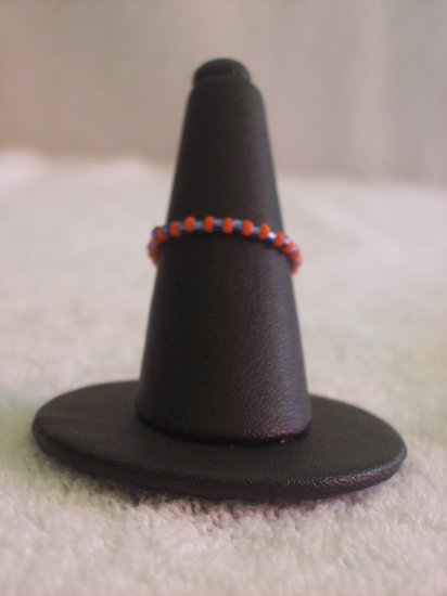 Simple ring, blue and orange