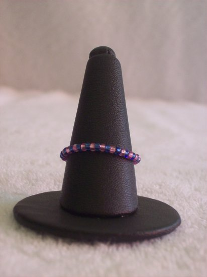 Simple ring, pink and purple