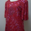 Red Shalimar Fashions Sequined Top for adult female, m,l