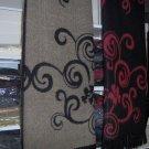 Women's acrylic bk/grey, bk/br poncho -reversible wraps/shawls with fringes