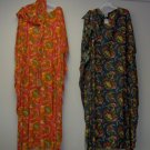 kaftans with head wrap for adult female,bk,orange,red,green print,free size
