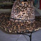adult male felt hats,tan/brown,black/brown,one size,animal print