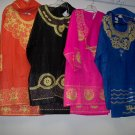 3-4pc Afrocentric skirt set for adult female, head wrap or kuphi,one size,bk,blue,hot pink,red