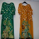 Casual floral print kaftan dress for adult female,free size, red ,green print design
