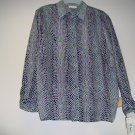Long sleeve blouse for adult female,bk/wh print design,size ,med,22,