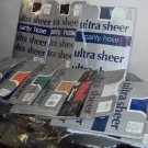 Ladies one size ultra sheer panty hose,bk,wh,bge,suntan,off wh,off bk,coffe,grey,red,navy,