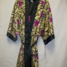 Women's 2pc shorty gown & robe set w/hot pink & multi designs by V.F., size large