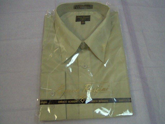 beige long sleeve enrico rossini dress shirt foradult male, 16.5 x 34/35