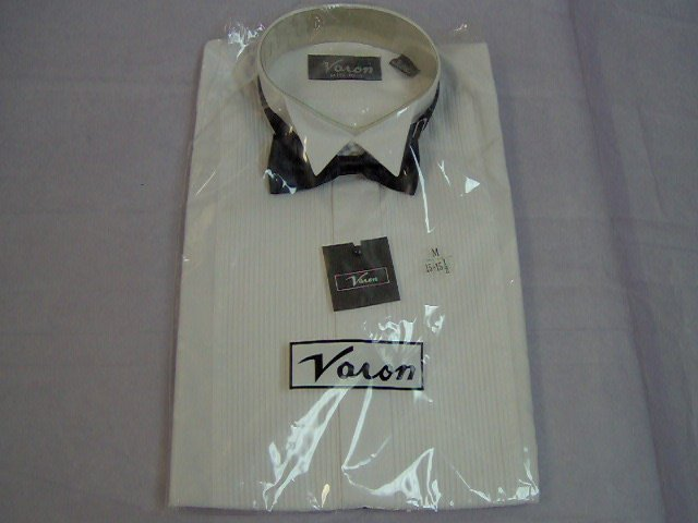 wing tip tuxedo shirt for men with bowtie,sizes 15.5 to 19.5 x 34/35 sleeve length,wh,bk, red