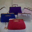 evening bags for ladies. colors available,red,bk,wh,iv,royal,pink,