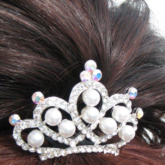 Rhinestone Crown Comb T15