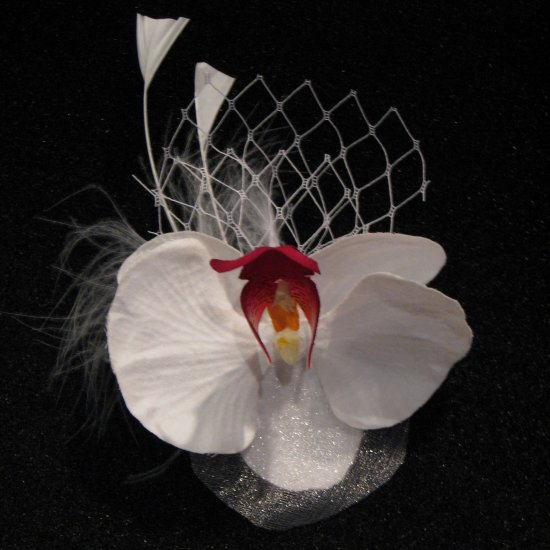 Orchid Flower Fascinator