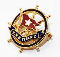 Titanic Gold Pin Badge