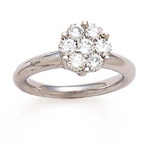 14kw Round Brilliant Cut Inverted Look Diamond Ring - Retail  $1783.95