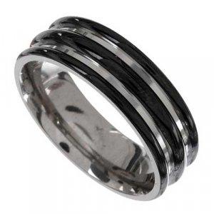 Triple Ribbed Titanium Ring  -  Retail  $220.00