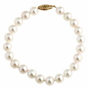White Akoya Pearl Bracelet With 14 Kt. Clasp  -  Retail  $295.00
