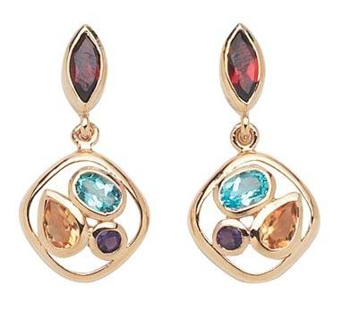 Multi Color Earrings  -  Retails  $161.95