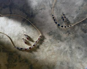 Lady V Garnet  &  Diamond Necklace With Matching Earrings   -  Retail $328.95