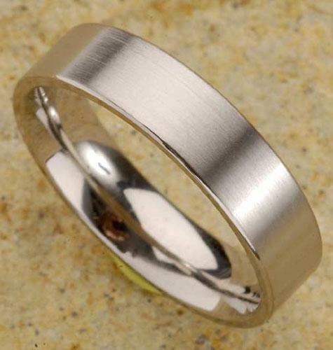 Brushed Satin Mens Titanium Ring  -  Retail  $145.00