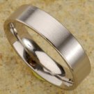 Brushed Satin Mens Titanium Ring  -  Retail  $145.00
