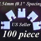 100 2.54mm Jumper Hard Drive IDE/CD/DVD Disk 2-Pin WHITE