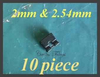10 2mm/2.54mm Jumpers Computer Hard Drive Disk SATA&IDE Shunts Headers 2.0mm 2-Pin