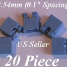 "20 Jumpers 2.54mm HARD DRIVE Disk IDE/CD/DVD Shunts Headers ,1"" Mini 2-Pin BLUE"