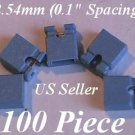 "100 Jumpers 2.54mm HARD DRIVE Disk IDE/CD/DVD Shunts Headers ,1"" Mini 2-Pin BLUE"
