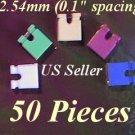 "50 Jumpers 2.54mm HARD DRIVE Disk IDE/CD/DVD Shunts Headers ,1"" Mini 2-Pin Color"