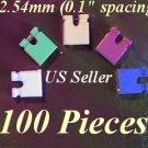 "100 Jumpers 2.54mm HARD DRIVE Disk IDE/CD/DVD Shunts Headers ,1"" Mini 2-Pin Color"
