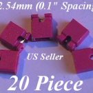 "20 x 2.54mm Jumpers Hard Drive Shunts Headers Computer IDE/CD 0.1"" Mini 2-pin RED"