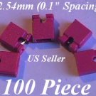 "100 x 2.54mm Jumpers Hard Drive Shunts Headers Computer IDE/CD 0.1"" Mini 2-pin RED"