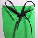 Electric Green Fabric Gift Card Wrap Black Ribbon