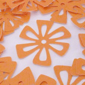 Flower Embellishments in Goldenrod set of 20