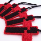 Black Red Christian Cross Ornaments