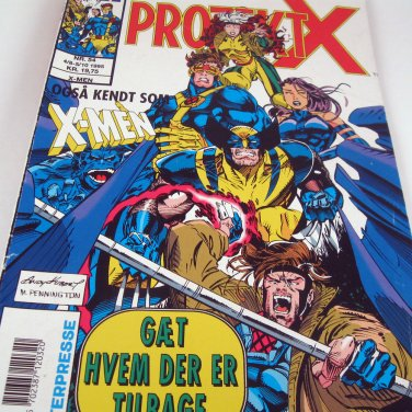 Marvel Comic Book Project X X-Men in Danish
