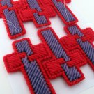 Red and Purple Cross Set of 6 for red hat friends