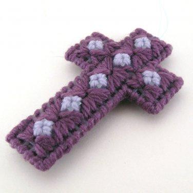 7 star Purple Cross Ornament