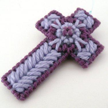 Purple Lavender Christian Easter Cross Ornament baptism gift